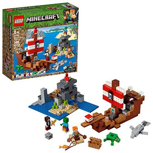Minecraft LEGO Das Piratenschiff Adventure 21152 | 386 Teile Bausatz