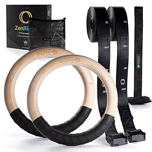 Turnringe Holz Ringe Turnen I ZenRings Fitness Gymnastikringe mit...