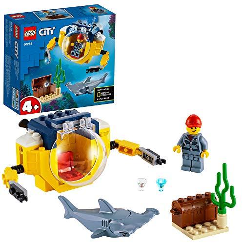 LEGO 60263 City Mini-U-Boot für Meeresforscher Unterwasser-Set, Tauchabenteuer-Spielzeug für Kinder ab...