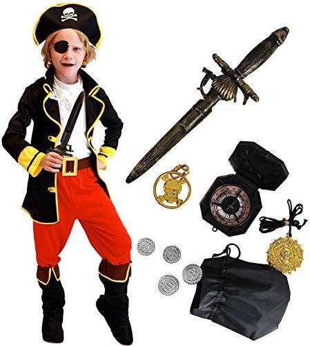 Tacobear Piratenkostüm Kinder mit Piraten Zubehöre Piraten...