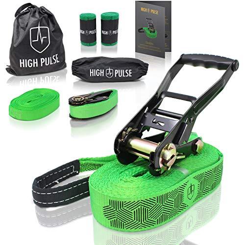 High Pulse® Slackline Set   15 m – Komplettes Slackline-Set (12,5 m...