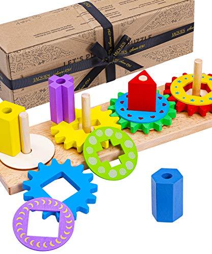 Jaques of London Holzpuzzle | Hohe Qualität Steckspielzeug | Prämie...