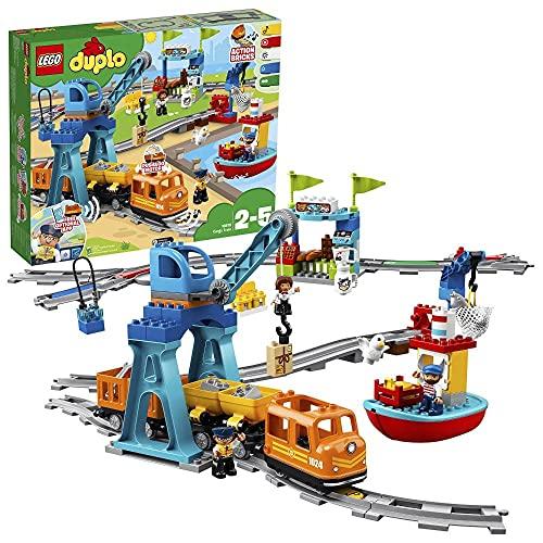 """LEGO 10875 DUPLO Güterzug, """"Push & Go""""-Lok mit Lichtern und..."""