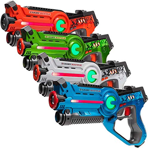 Light Battle Active Lasertag Set - 4X Laserpistole...