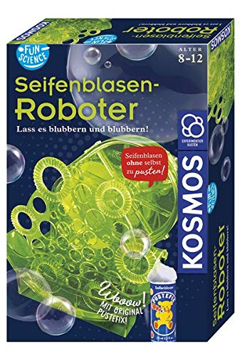 KOSMOS Fun Science Seifenblasen-Roboter, Schillernde Seifenblasen am laufenden Band ohne Pusten,...