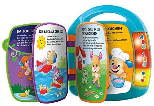 Fisher-Price CDH40 - Lernspaß Liederbuch Baby Spielzeug zum Lernen von Buchstaben, Zahlen und Formen,...