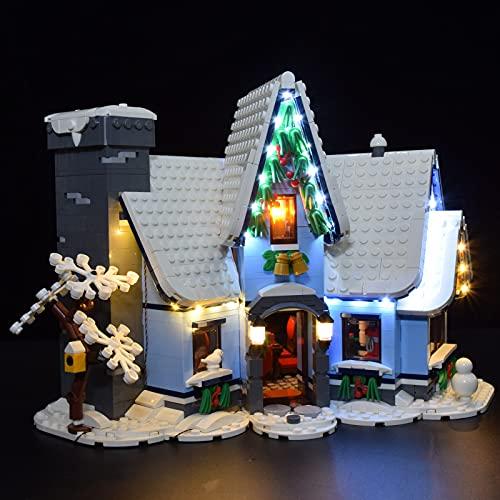 TopBau LED Beleuchtungsset, Licht Set für Lego 10293 Santas Visit...