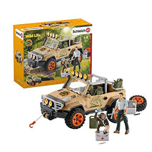 Schleich 42410 Wild Life Spielset - Geländewagen mit...