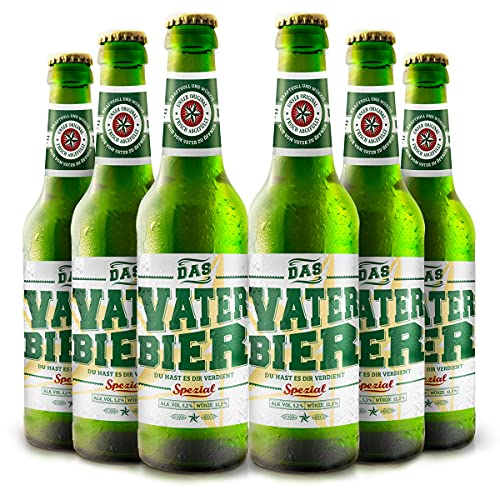 Vaterbier Spezial (6 x 0,33 l), lustiges Biergeschenk Vater,...