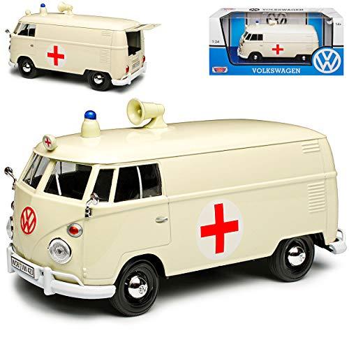Motormax Volkwagen T1 Kasten Krankenwagen Notarzt Cream Beige Samba...