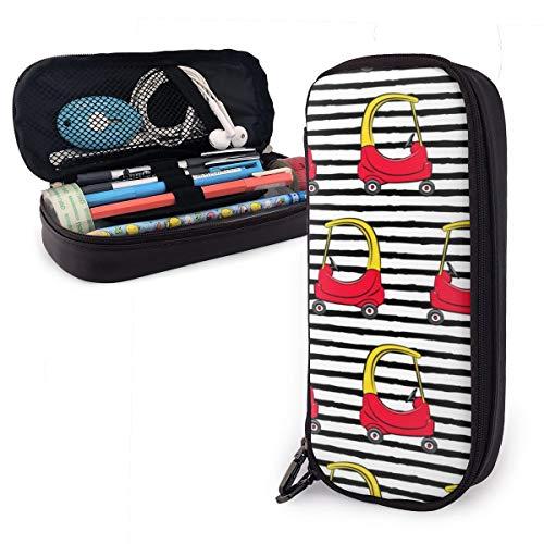 Kinder Spielzeug Auto auf schwarzen Streifen gelb Federmäppchen Multifunktions-Federmäppchen, großes...