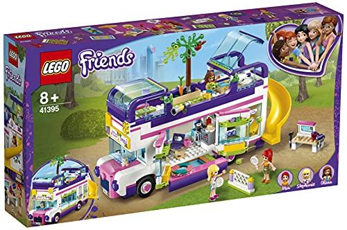 LEGO 41395 Friends Freundschaftsbus Set, Puppenhaus - Bus mit 3 Mini...