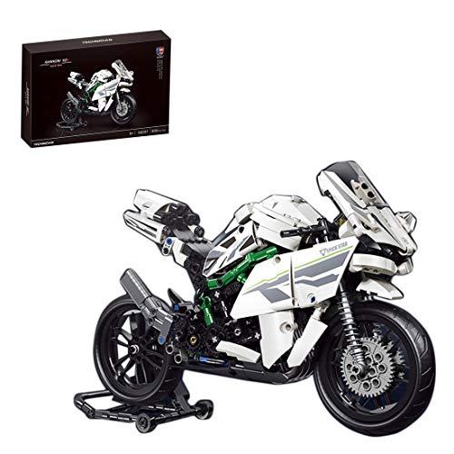 ColiCor Technic Bausteine Off-Road Motorcycle Model, 800pcs Straßenmotorrad für Harley Davidson Motorrad,...