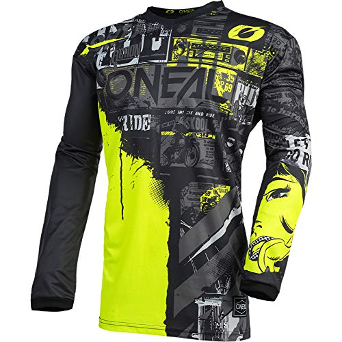 O'NEAL | Motocross-Jersey Langarm | Kinder | MX Enduro | Gepolsterter...