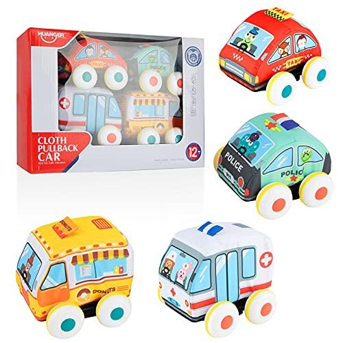 Sirecal Weich Zurückziehen Fahrzeug Spielzeug Einstellen 4 Stück...