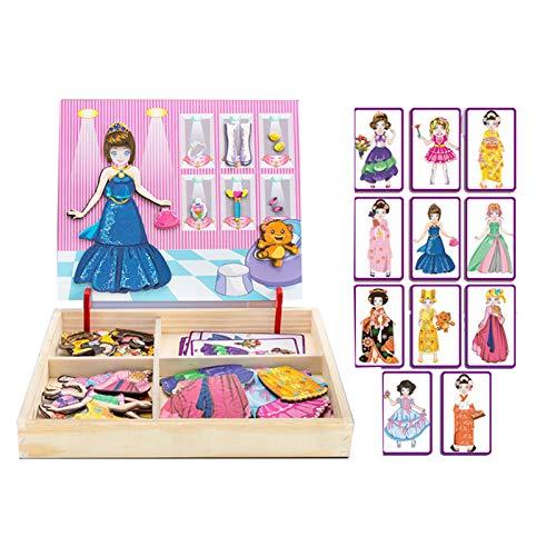 WFF Spielzeug Dress Up Spielzeug Holzmagnetpuzzle Kinder Lernspielzeug...