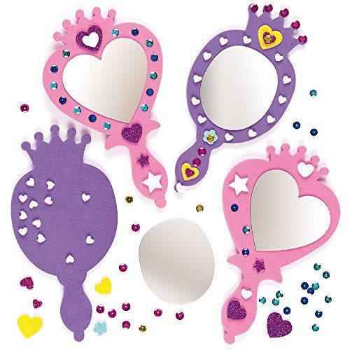 Baker Ross Prinzessin-Spiegel-Set - Schaumstoff - für Kinder zum...