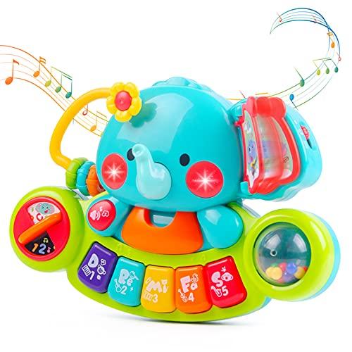 NYOBABE Baby Musikspielzeug für 6 9 12 18 Monate Kleinkinder, Elefant...