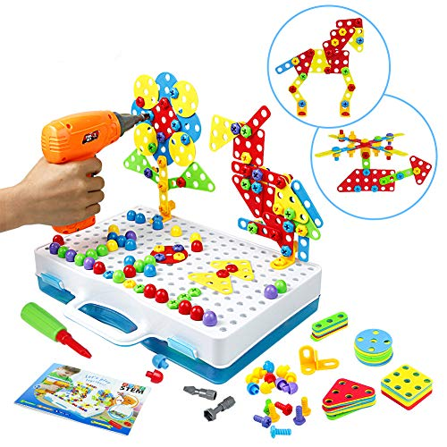 Symiu Mosaik Steckspiel Schraube Spielzeug - 3D Puzzle Kinderspielzeug...