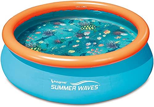 well2wellness® 3D Quick-Up Pool Aufstellbecken Swing Ø3,05m x 76 cm...