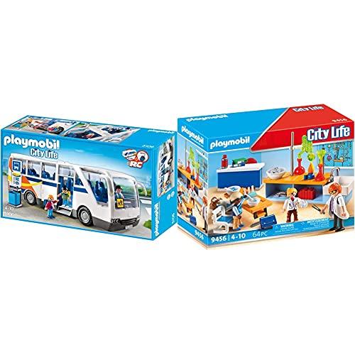 PLAYMOBIL City Life 5106 Schulbus, ab 4 Jahren [Exklusiv bei Amazon] &...