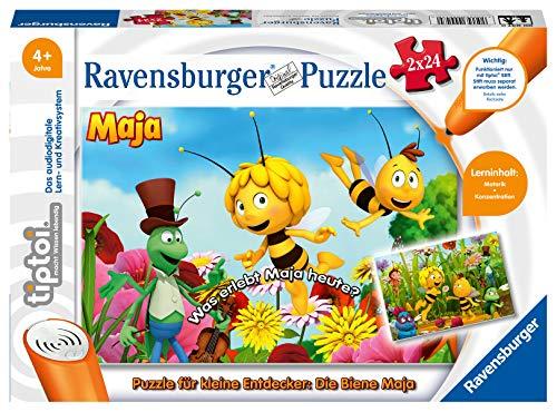 Ravensburger tiptoi 00047 - Puzzle für kleine Entdecker: Die Biene Maja / 2x24 Teile Puzzle von Ravensburger...