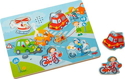 HABA 303180 - Sound-Greifpuzzle In der Stadt | Kinderpuzzle ab 2...