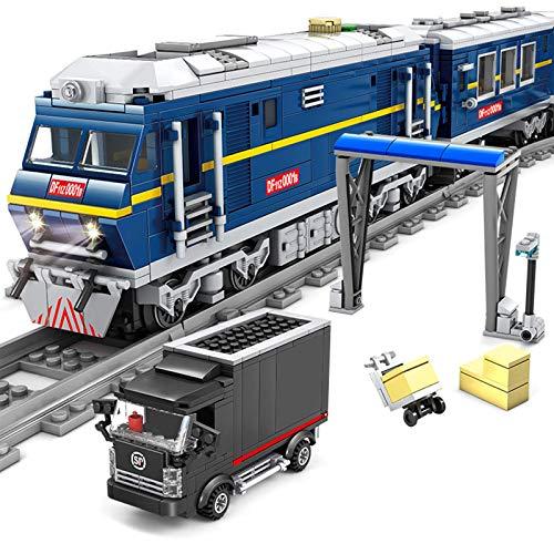 ZJLA Adventskalender Zug Track Set DIY Baustein Modell Lokomotive Zug...