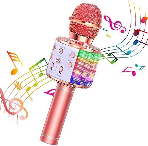 BlueFire Karaoke Mikrofon, Bluetooth Mikrofon Kinder, Tanzen LED...