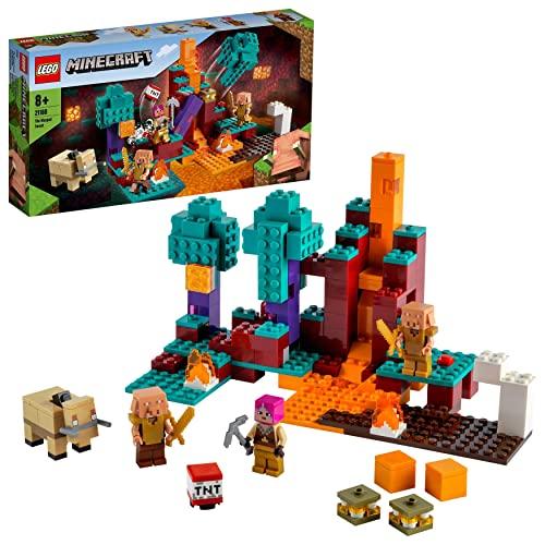 LEGO 21168 Minecraft Der Wirrwald Spielset mit Huntress, Hoglin und 2...