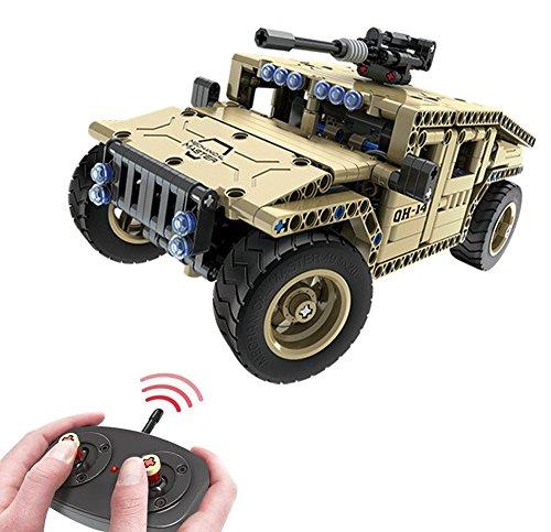 Modbrix Bausteine 2,4 Ghz RC Auto Humvee Panzer-Fahrzeug Ferngesteuert, Konstruktionsspielzeug mit 502...