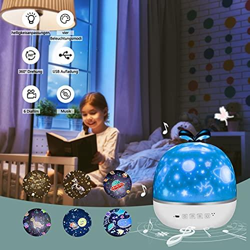 Sternenhimmel Projektor, Crapuschla 3 in 1 Bluetooth Lautsprecher...