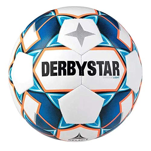 Derbystar Kinder Stratos S-Light, 1038400167 Fußball, Weiss blau...