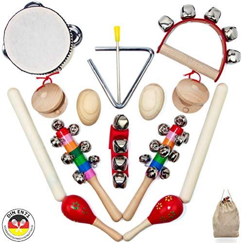 SCHMETTERLINE® Musikinstrumente-Set für Kinder aus Holz - 15 TLG....