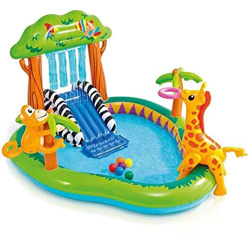 INTEX Aufblasbarer Pool, Kinderpool Spielcentrum...