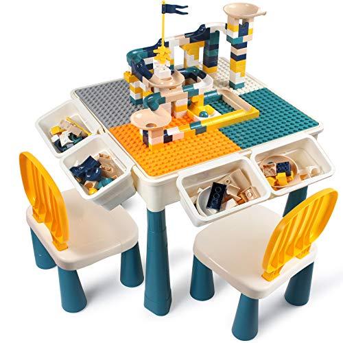 AMOSTING Höhenverstellbar Kindertisch mit Stühle , enthalten 100...