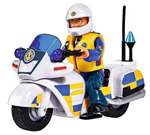 Simba 109251092 - Feuerwehrmann Sam Polizei Motorrad, mit Malcolm...