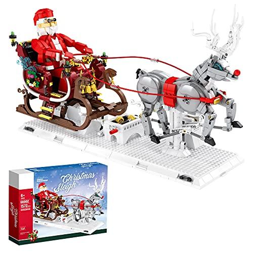 WWEI Weihnachtsmann Bausteine, 1537 Teile Santa Claus mit Elch,...