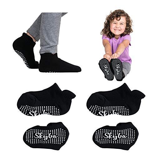 Skyba Kleinkindsocken mit Griffen, Trampolin-Socken – Hausschuhe...