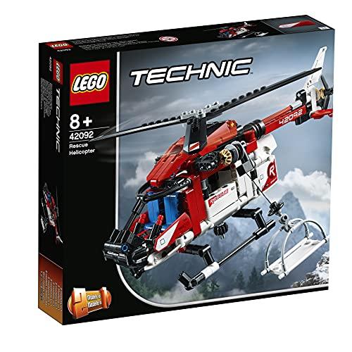 LEGO 42092 Technic Rettungshubschrauber Bauset, 2-in-1 Flugzeug...