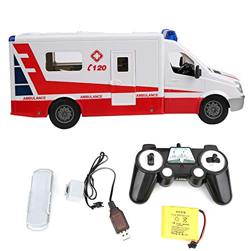 Rotes Auto Spielzeug Simulation Krankenwagen Wiederaufladbare RC Auto...