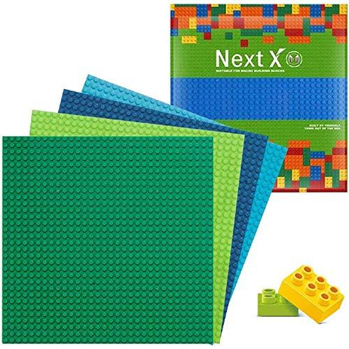 NextX 4 Stück Bauplatte für Classic Bausteine Plastik Grundplatte 25...