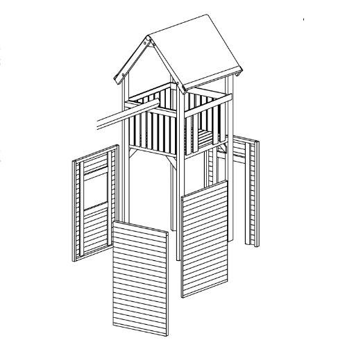 Gartenpirat Zubehör: Wandelemente Premium Spielturm S, M, L und XL