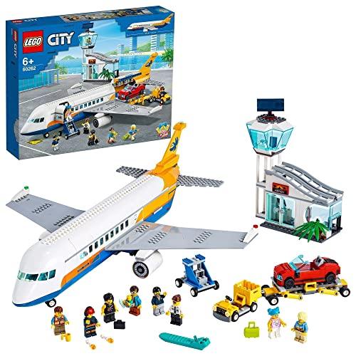 LEGO 60262 City Passagierflugzeug mit Flughafenterminal und LKW,...