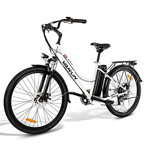 VARUN E-Bike Damen Herren 26 Zoll Elektrofahrräder Shimano 7 Gänge...