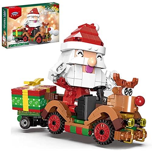 FYHCY Weihnachtsmann Rentier Auto Bausteine, Adventskalender...