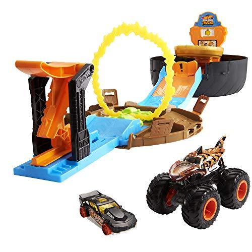 Hot Wheels GYN01 - Monster Trucks Stunt Reifen Spielset mit...