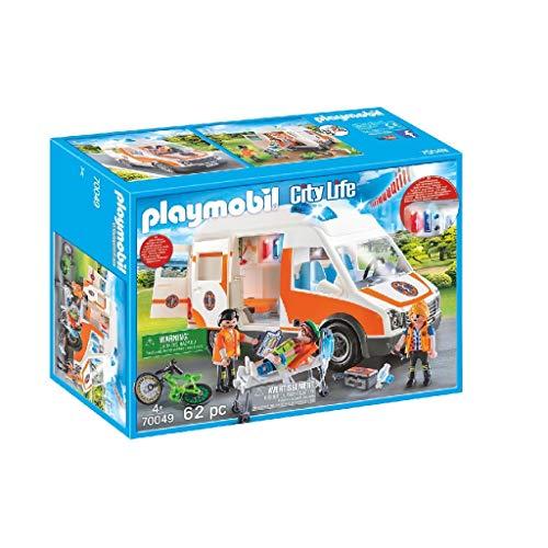 Playmobil City Life 70049 Rettungswagen mit Licht und Sound, Ab 4...