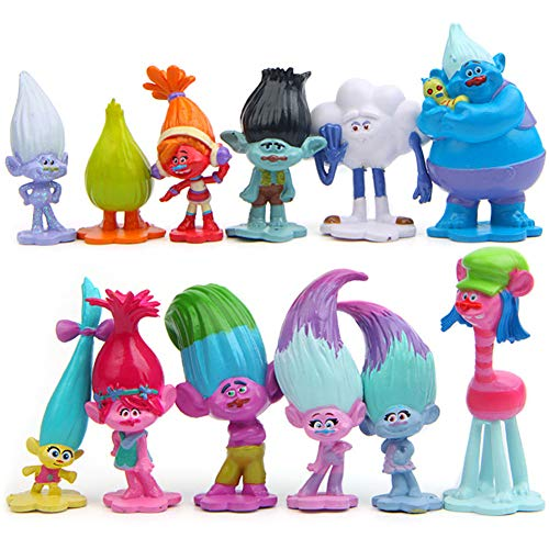 Miotlsy Trolls Doll Mini Figuren Set Geburtstags Party liefert Cupcake...