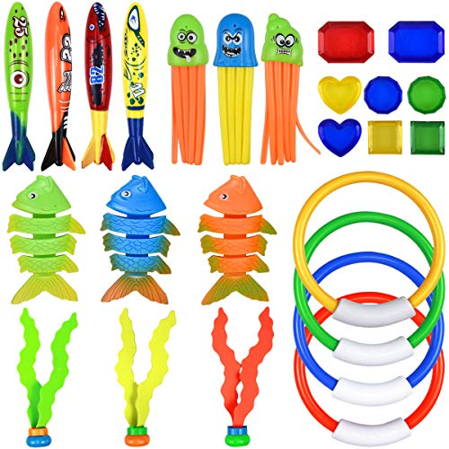 NATUCE 25Stk Tauchen Spielzeug, Tauchringe,...